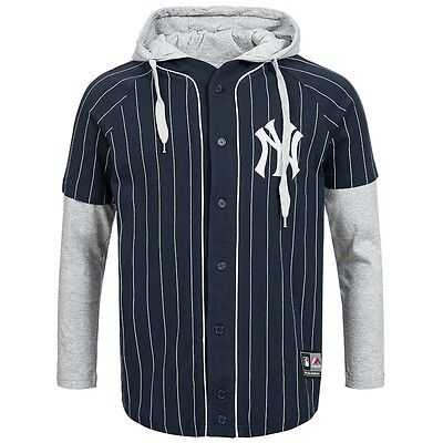 New York Yankees Majestic Shirt MLB Longsleeve Sport Baseball Jersey Sweater neu