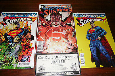 Superman #1 Rebirth Variant  #209 Signed by Jim Lee w/ Midtown COA