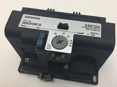NEW Siemens 48BSH3M10 Solid State Overload Relay ESP100 22-45 FLA