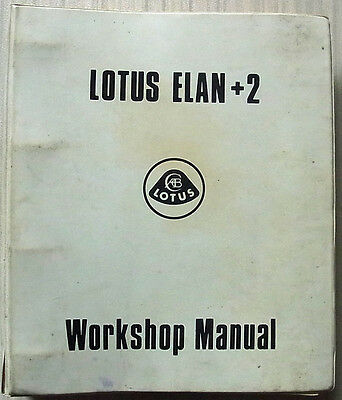 LOTUS ELAN +2 Car Workshop Manual Oct 1972 #X050 T 0327Z