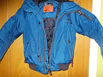 Next Authentic padded winter coat with fur trimmed hood for boy age 6