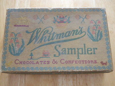 Vintage Whitman's Sampler Chocolates & Confections Candy Box