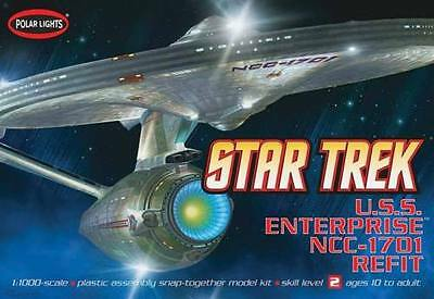Polar Lights 820 Star Trek USS Enterprise Refit 1/1000 Scale Plastic Model Kit