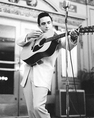 American Singer JOHNNY CASH Glossy 8x10 Photo Country Music Print Poster