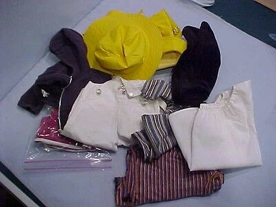 American Girl Doll Early Clothing Lot Tagged Pleasant Co: Snowflake, Rain, Misc