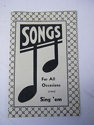 Vintage American Lithographing & Printing Co. Des Moines, Iowa Ad Song Book