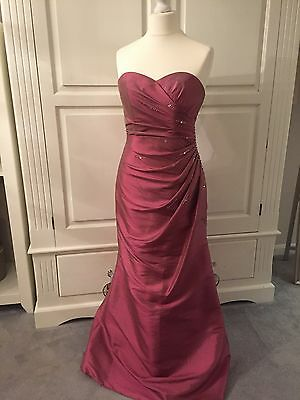 New £180 MARK LESLEY Size 12 Evening/Bridesmaid/Prom Dress/Ball Gown