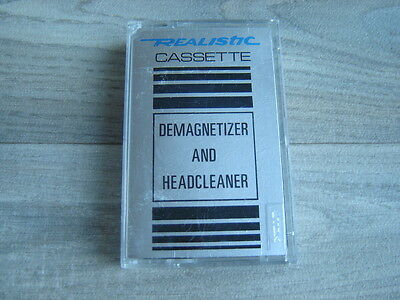 cassette tape REALISTIC DEMAGNETIZER AND HEAD CLEANER USA hifi70s80s c90c60audio