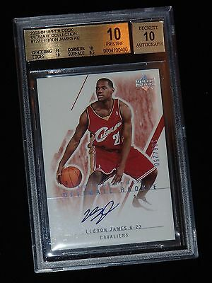 BGS 10! 2003-04 Ultimate Collection LeBron James ROOKIE RC AUTO 236/250 PRISTINE