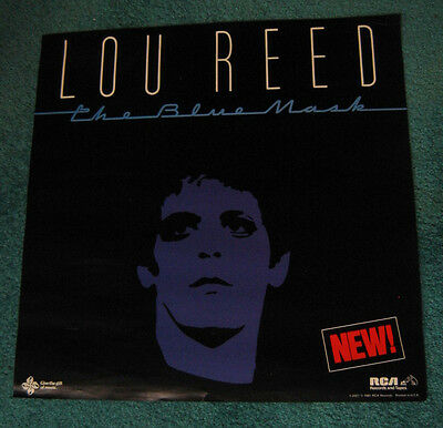 """LOU REED """"The Blue Mask"""" USA 1982 Promo Poster 22"""" X 22"""" on RCA unused vintage"""