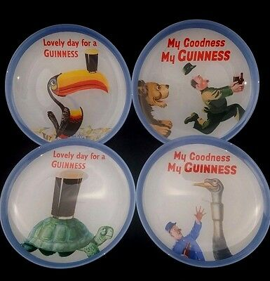 Set Of 4 Guinness Sign Dessert Appetizer Plates Hard To Find Very Rare