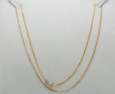 9Ct Yellow Gold Fine Curb Link Chain Necklace - 50Cm