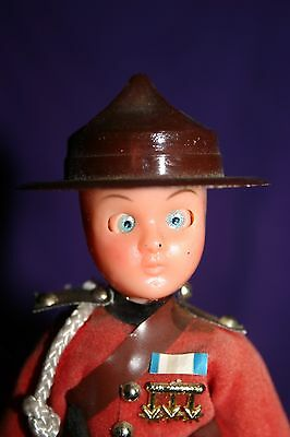 Vintage Canadian Mountie Toy Doll