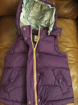 Little Joules Purple Gilet With Detachable Hood - Aged 6 Years