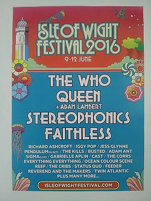 Isle Of Wight Festival 2016 A3 Poster Ocean Colour Scene The Cribs Twin Atlantic