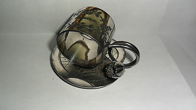 Victorian SP Figural Water Lilly Napkin Ring Very Nice! NO RESERVE