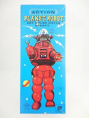 1960's Yoshiya KO Action Planet Robot Sparky Wind Up Robot New in Original Box