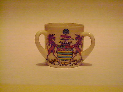 China Loving Cup With Duke Of Devonshire/Duke Of Rutland Crest By Arcadian China