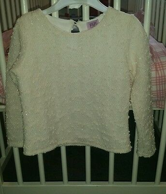f&f toddler top age 2 - 3 years excellent condition white
