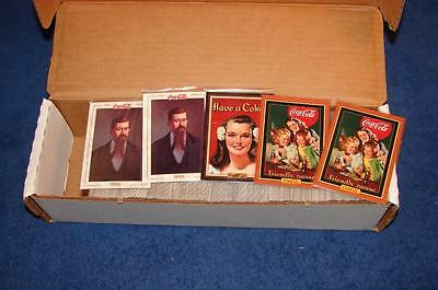 1993 1994 1995 Coca Cola Coke Trading Cards Lot Of 5 Complete Sets (Sa415)