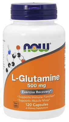 New - NOW Foods L-Glutamine 500 mg 120 Caps