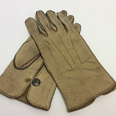 Vintage hope brothers pigskin men's pale brown leather gloves