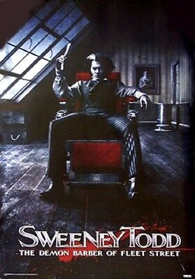 "Sweeney Todd Poster ""licensed"" Johnny Depp"" The Demon Barber ""brand New"""