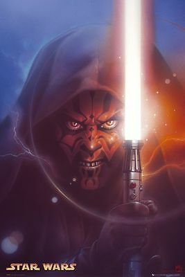 "Star Wars Poster  ""licensed"" Brand New ""darth Maul"""
