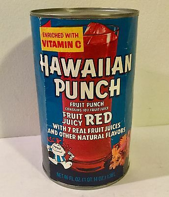 1970's Vintage HAWAIIAN PUNCH Fruit Juice Drink tin CAN Advertising Old