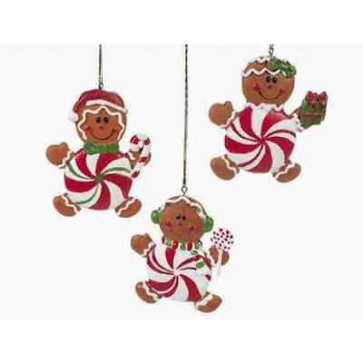 3 Resin Gingerbread Christmas Ornaments