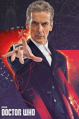 "Doctor Who Poster ""peter Capaldi"" Licensed ""brand New"""