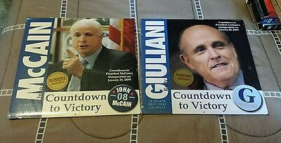 """RARE McCain and Guiliani """"Countdown to Victory"""" Calendars 2008!"""