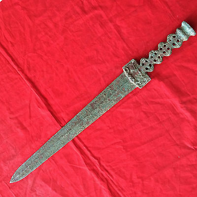 antique    The ancient Chinese bronze sword.