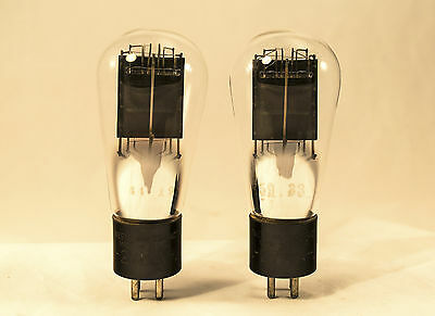 Pair Western Electric 275A  Vacuum Tubes * Globe Shaped And Early Engraved Base