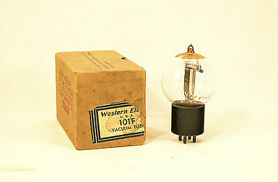 Western Electric 101F  Vacuum Tube Spherical Glass Bakelite Base With Box Nos
