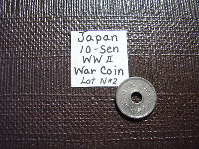 WW ll-War Coin From Old Japan* 10 Sen 1944    Close out Sale    Lot N#2