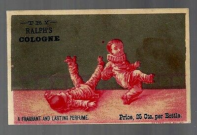 Ralph's Cologne late 1800's trade card #G