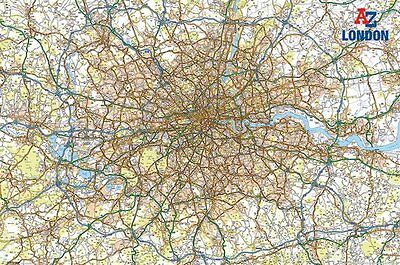 "Map Of London Poster ""large"" Licensed ""brand New"""