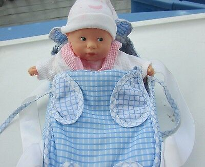"""Corolle Doll Bear Bed Set VHTF 8"""" Calin Baby Doll in Pajamas Retired 2000"""