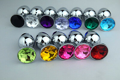 Portable Metal Stainless Steel Plug Butt Toy Crystal Body Jewelry medium