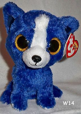 Ty Beanie Boo Boos 6 T Bone Blue Dog Gift Show Exclusive New With