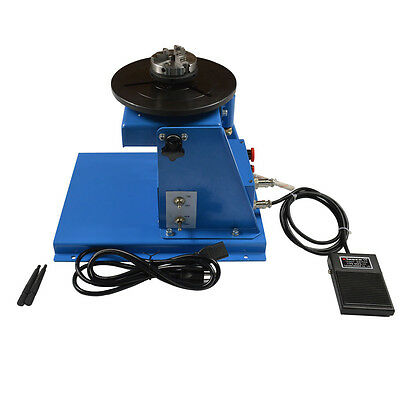10KG Light Duty Welding Turntable Positioner with 65mm Chuck 110V 2-16 R/min