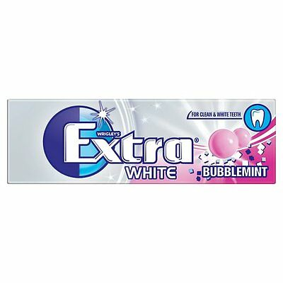 WRIGLEY'S EXTRA WHITE BUBBLEMINT SugarFree Gum - 10 Pieces