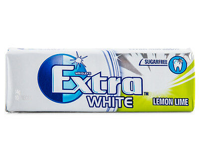 WRIGLEY'S EXTRA WHITE LEMON LIME SugarFree Gum - 10 Pieces