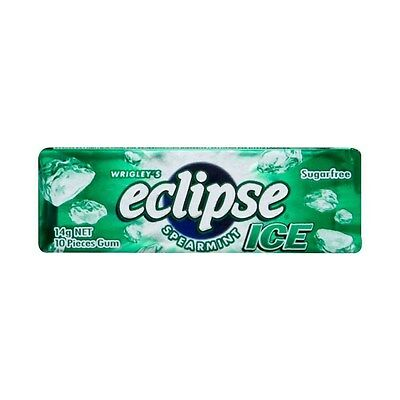 WRIGLEY'S ECLIPSE ICE SPEARMINT SugarFree Gum - 10 Pieces