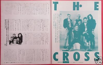 The Cross Roger Taylor Queen Corey Hart 1988 Clipping Japan Magazine Ml 2A 4Page