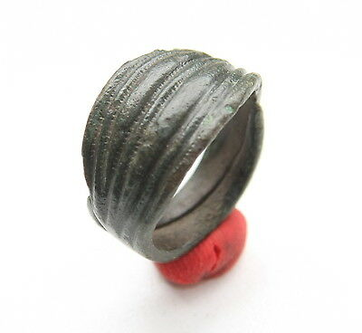 Ancient Old Viking Bronze Decorated Rings (OCR77)