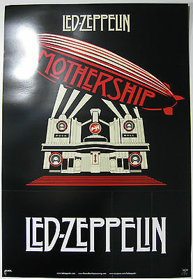 """Led Zeppelin """"Mothership"""" & """"Song Remains The Same"""" 2-Sided Promo Poster  RARE"""