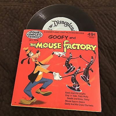 Goofy And The Mouse Factory 33 1/3 RPM Record Disney
