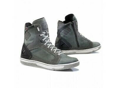 Chaussures Moto Forma Urbaine En Cuir Imperméable Hyper Anthracite
